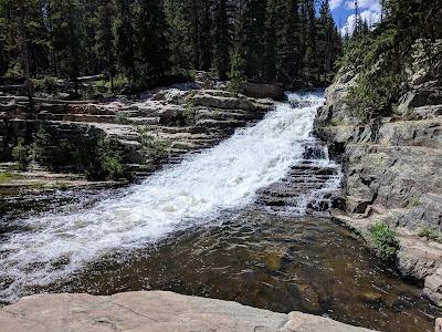 Beautiful Upper Provo River Falls