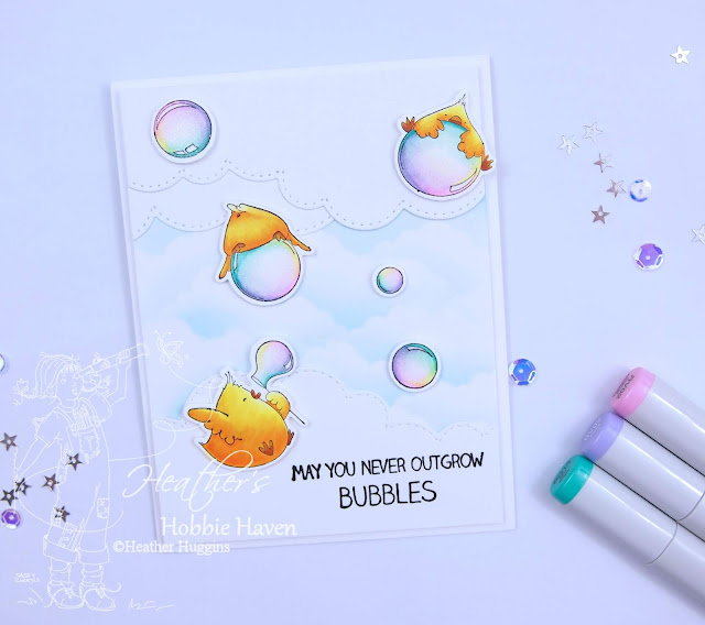 Heather's Hobbie Haven - Bubble Chicks Card Kit