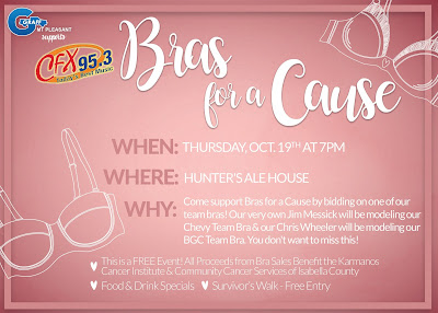 Support Our Bras for a Cause Event at Graff Mt. Pleasant!