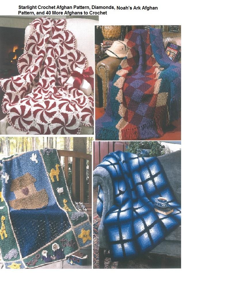 Crochet Starlight Peppermint afghan pattern, Noah's Ark Crochet afghan pattern and more afghans to crochet