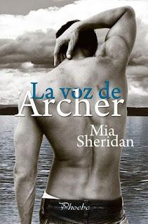 Portada del libro la voz de archer de mia sheridan