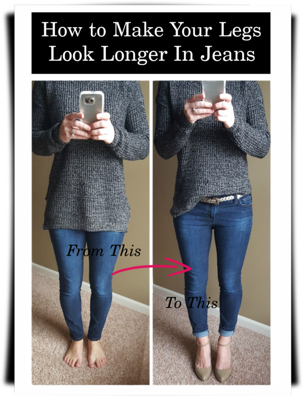 How to make your legs look longer, what to wear with jeans, can my legs look longer in jeans?, how to make my legs look longer