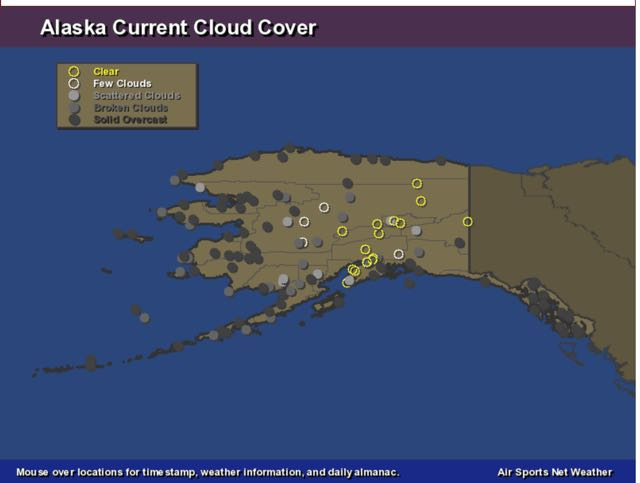 What Do I Know Aurora Notify Twitter Feed Lit Up Yesterday But - Us-cloud-cover-map