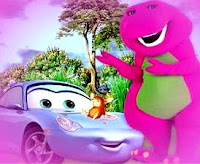Dibujo de Barney a color