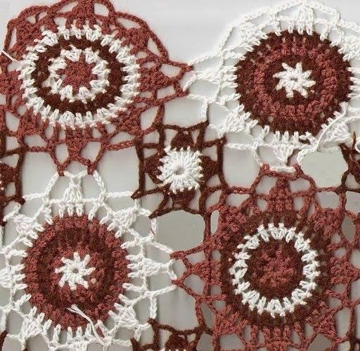 Enlazando con Diagrama Circulos de Crochet
