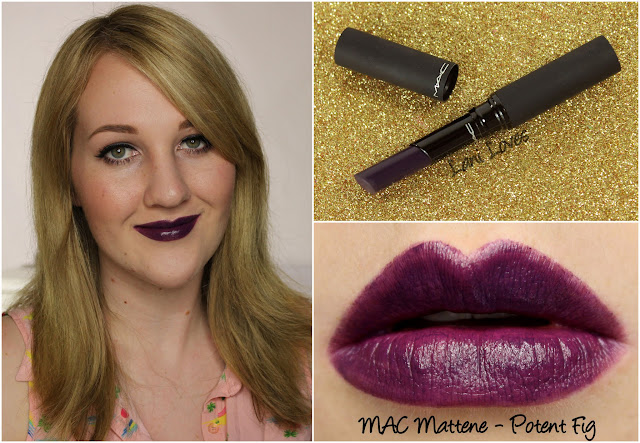 MAC Mattene - Potent Fig lipstick swatch