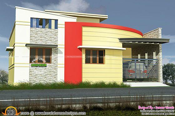 3 bedroom Tamilnadu style modern home