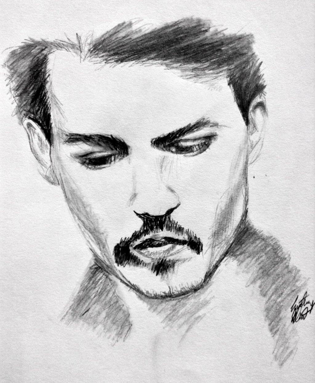Johnny depp pencil drawing pencil drawings