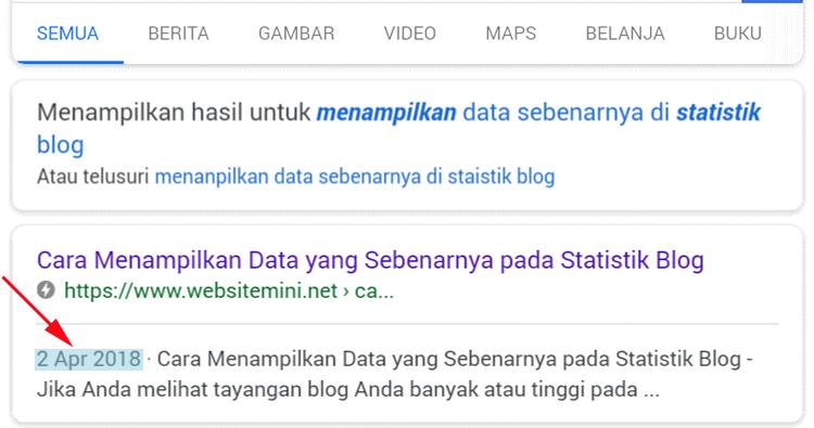 Cara Menghilangkan Tanggal Postingan Di Hasil Pencarian