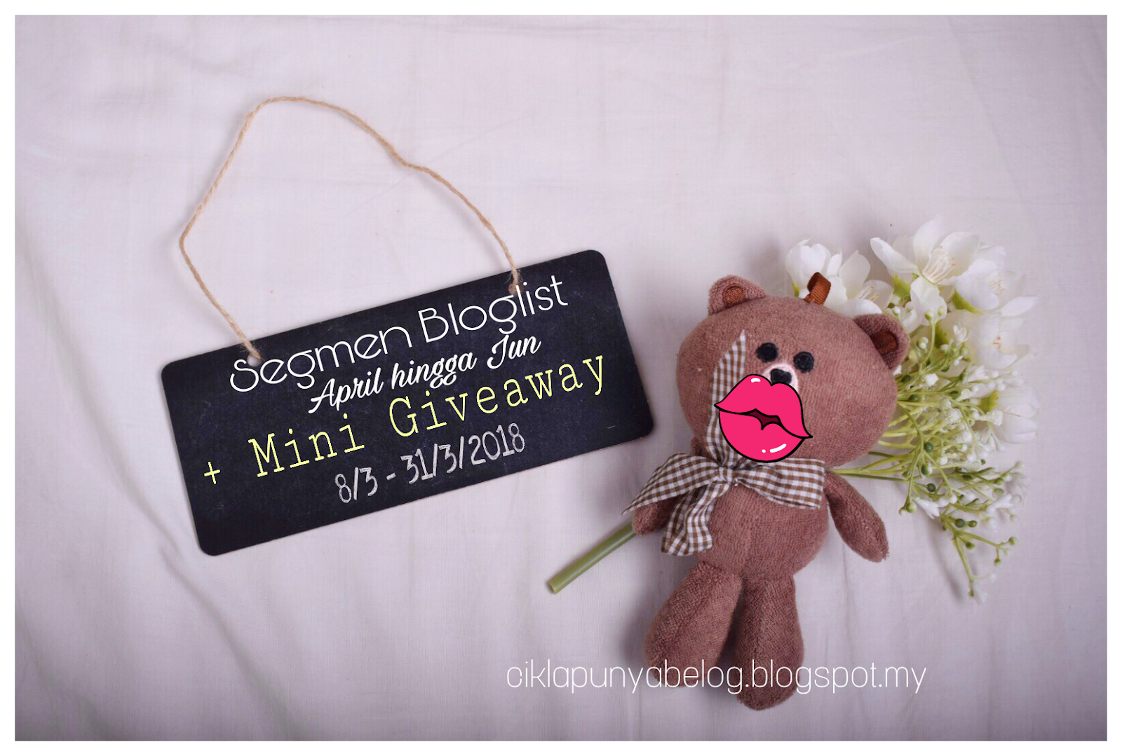 Segmen Bloglist April hingga Jun + Mini Giveaway.