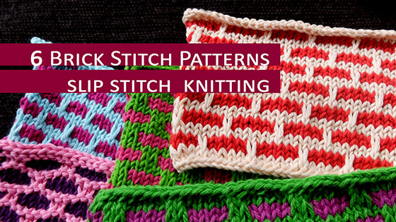 6 Brick Stitch Patterns For any knitter new to color knitting.