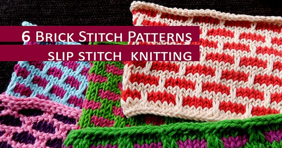 6 Brick Stitch Patterns Knitting Unlimited