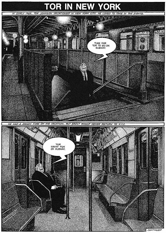 a Drew Friedman comic, Tor in New York