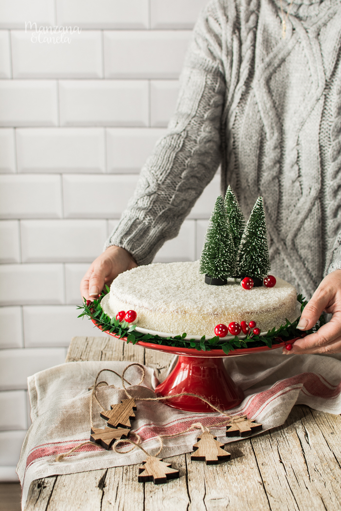 Tarta Blanca Navidad