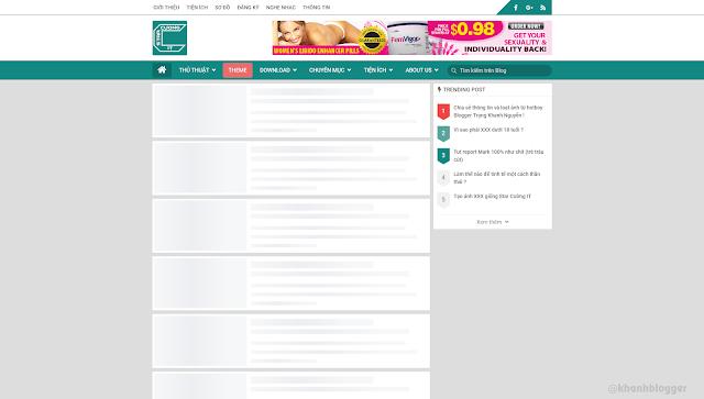 Tạo hiệu ứng load trang giống facebook cho Blogspot