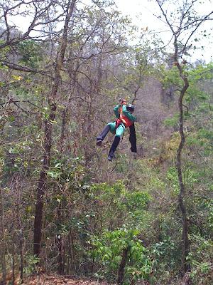 Zip Line in Copan Honduras