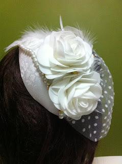 kırık beyaz nikah şapkası gelin vualet