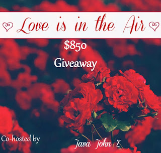 Enter the Love is in the Air giveaway for $850 in cash prizes. Ends 2/14.