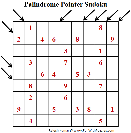Palindrome Pointer Sudoku (Fun With Sudoku #168)