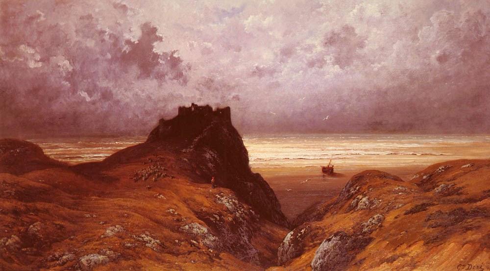 Castelo na Ilha de Skye - Gustav Doré e suas pinturas ~ Pintor, desenhista e inlustrador francês