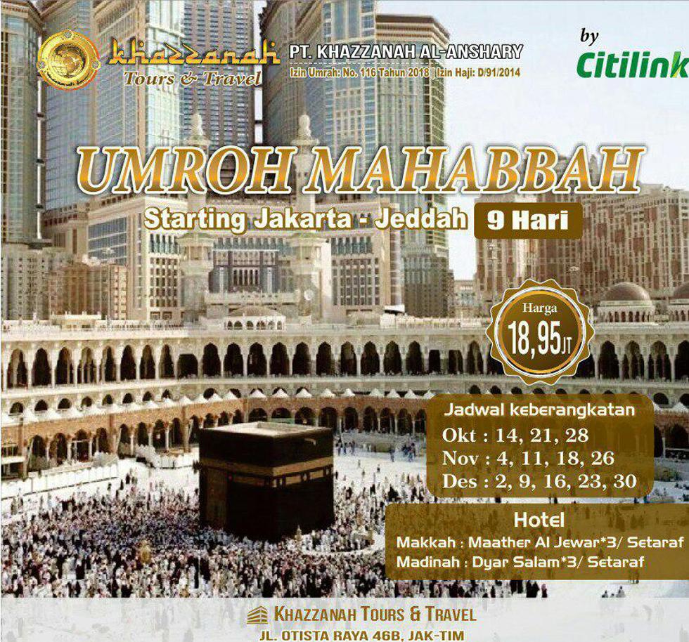 Umroh Muhasabbah Khazzanah Tour Citilink
