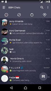 Download BBM MOD DARK NAVY APK V3.0.0.18 Terbaru
