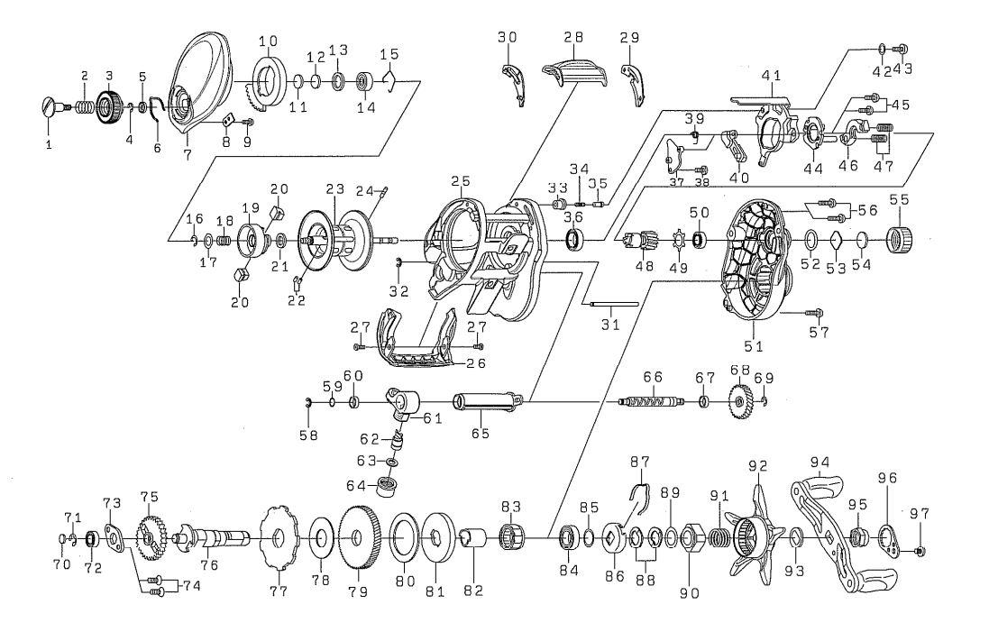 daiwa fuego CT schematics | most complete reels ... on