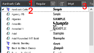 select a font in Photoshop.
