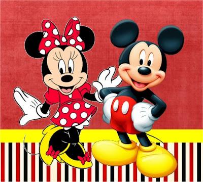 Mickey E Minnie Kit Completo Com Molduras Para Convites Rotulos