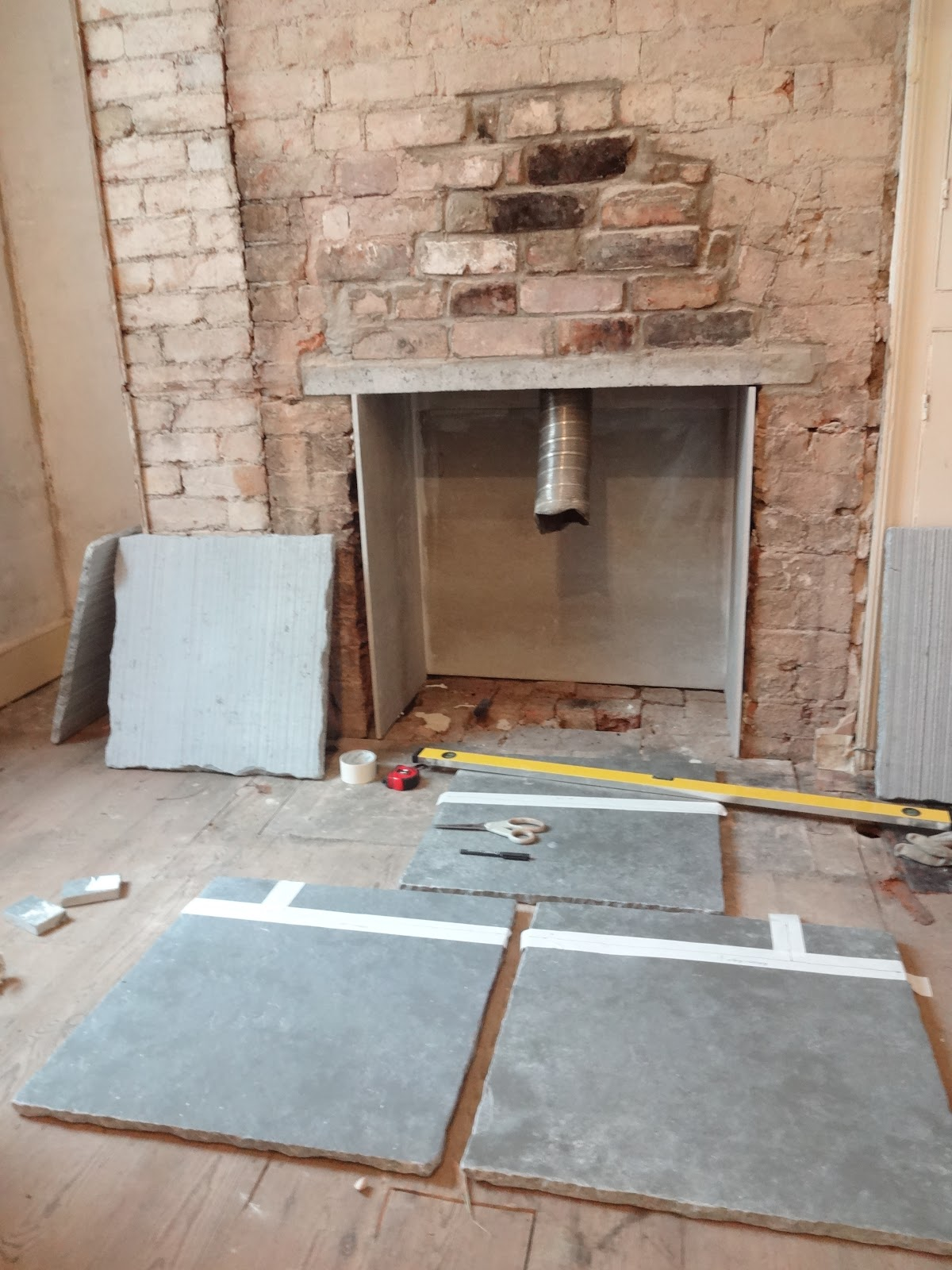 How to fit a limestone hearth