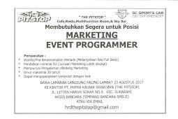 Lowongan Kerja Marketing PT Putra Kalbar Sriwijaya (THE PITSTOP)