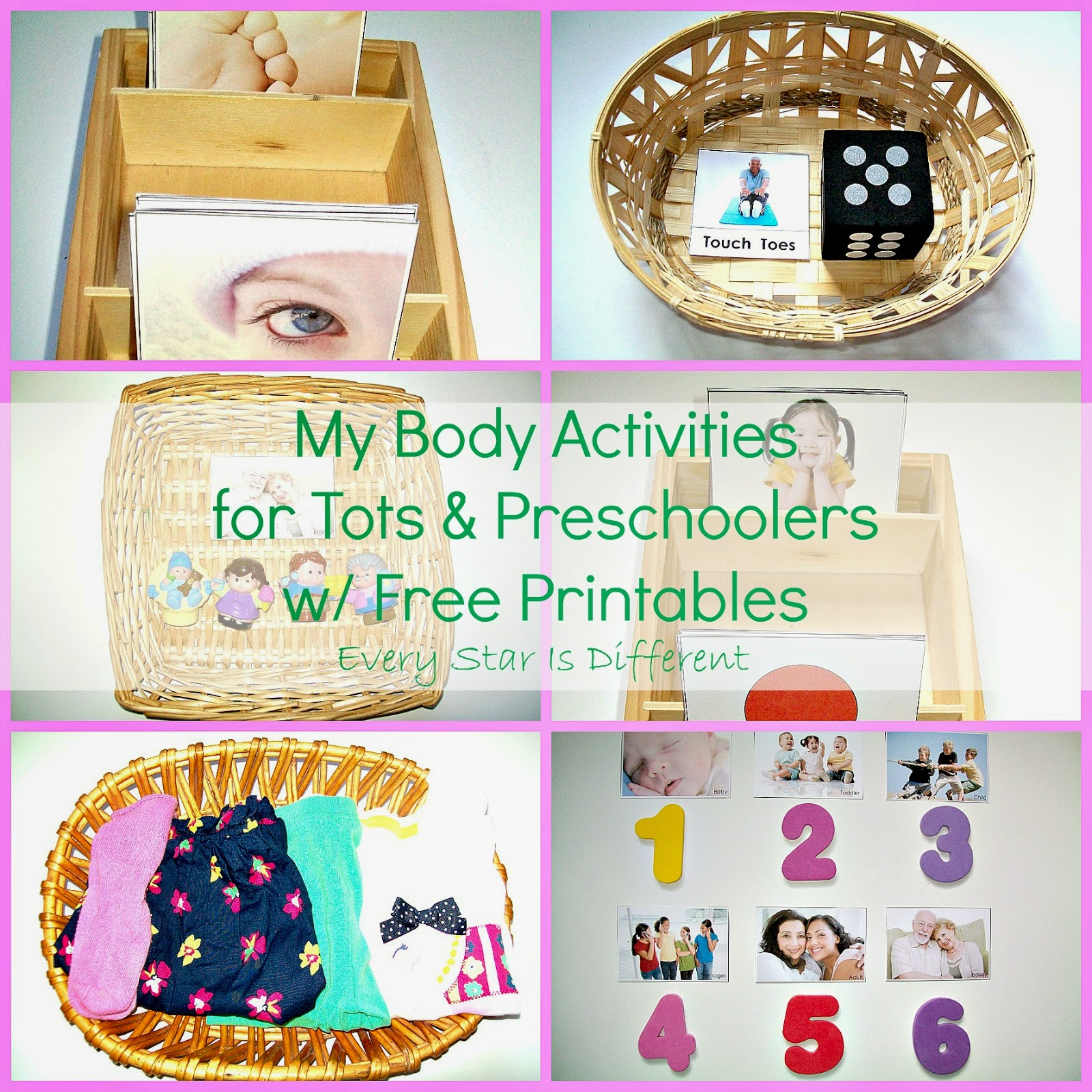Every Star Is Different My Body Activities For Tots Amp Preschoolers W Free Printables Klp Linky