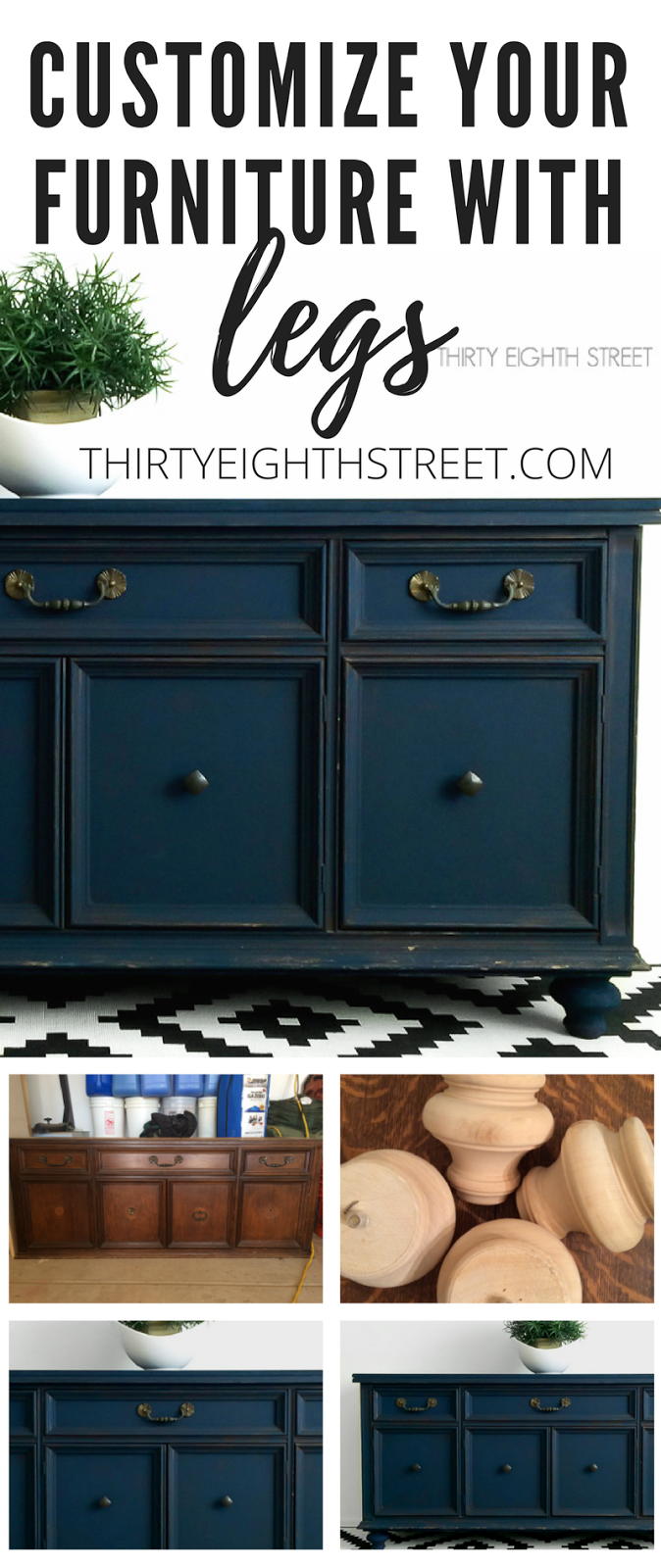 furniture tutorial, how to fix up furniture, how to add legs, furniture directions, customizing furniture, blue furniture, navy blue furniture
