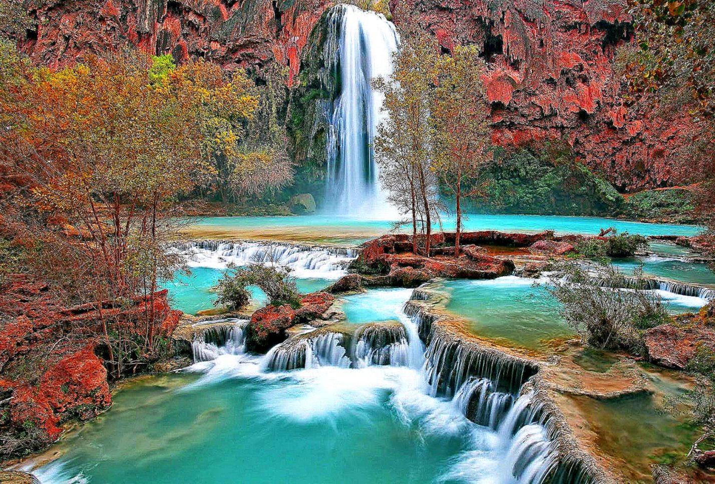 Beautiful Waterfall Screensavers Wallpaper