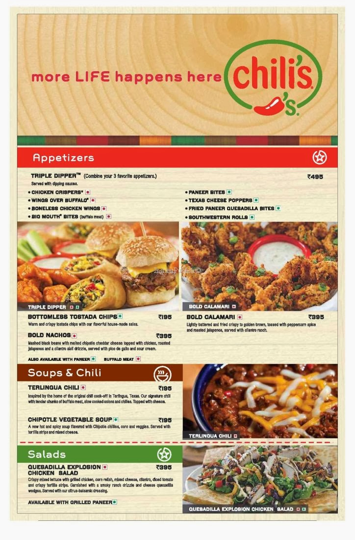 graphic about Chilis Menu Printable named Chilis menu austin / Club monaco pupil lower price code