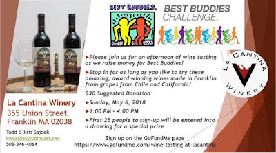 Best Buddies Fundraiser @ La Cantina Winery - May 6