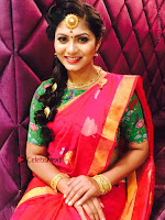 Telugu Actress Shruti Reddy Latest Poshoot Gallery in Red Silk Saree  0009.jpg