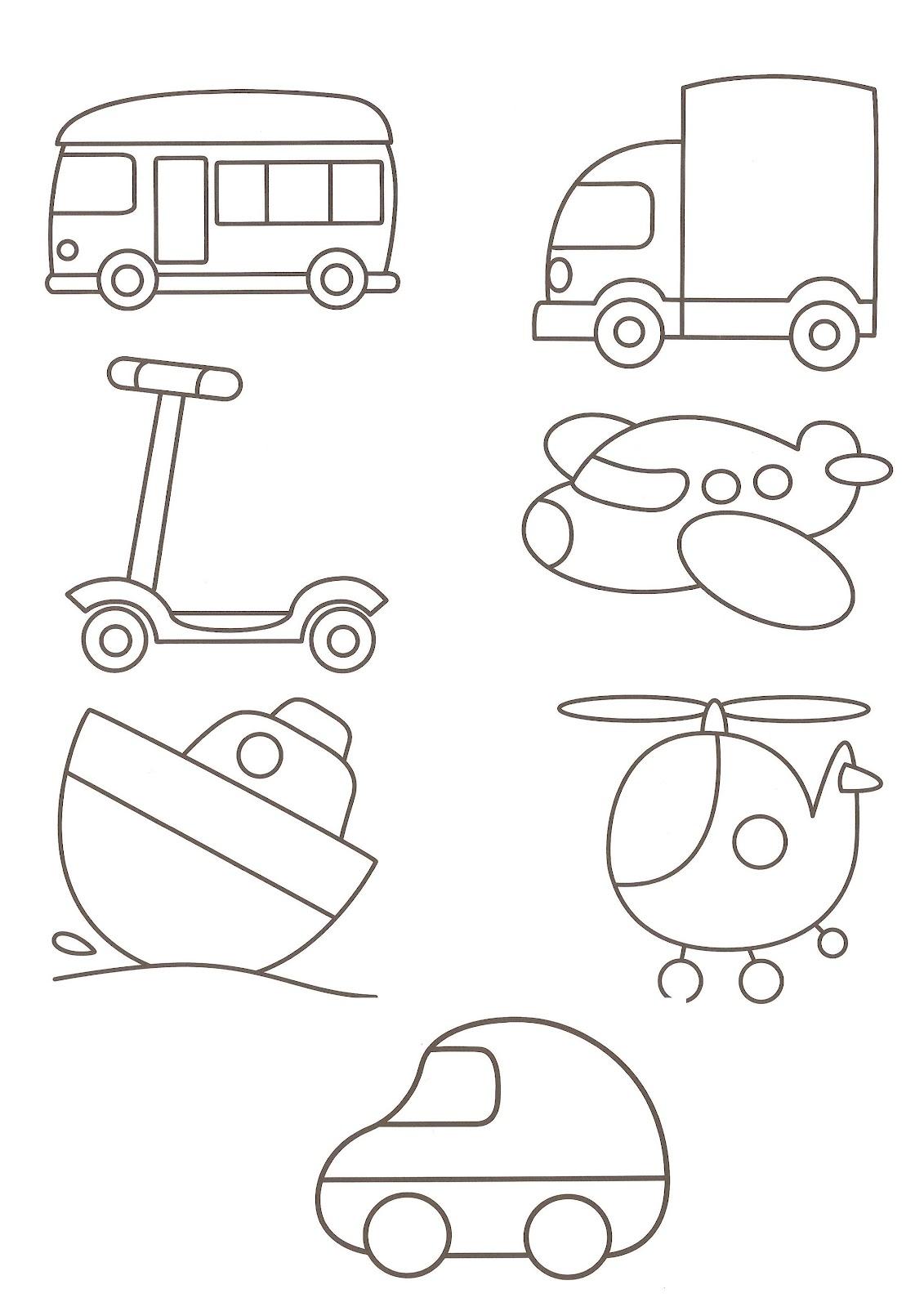 Transportation Clip Art Clipart With Car Truck Train