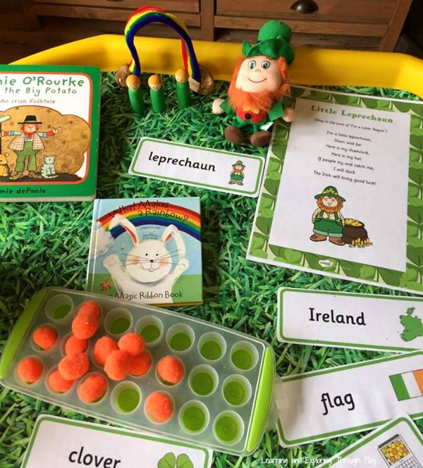 St Patricks Day Tuff Tray