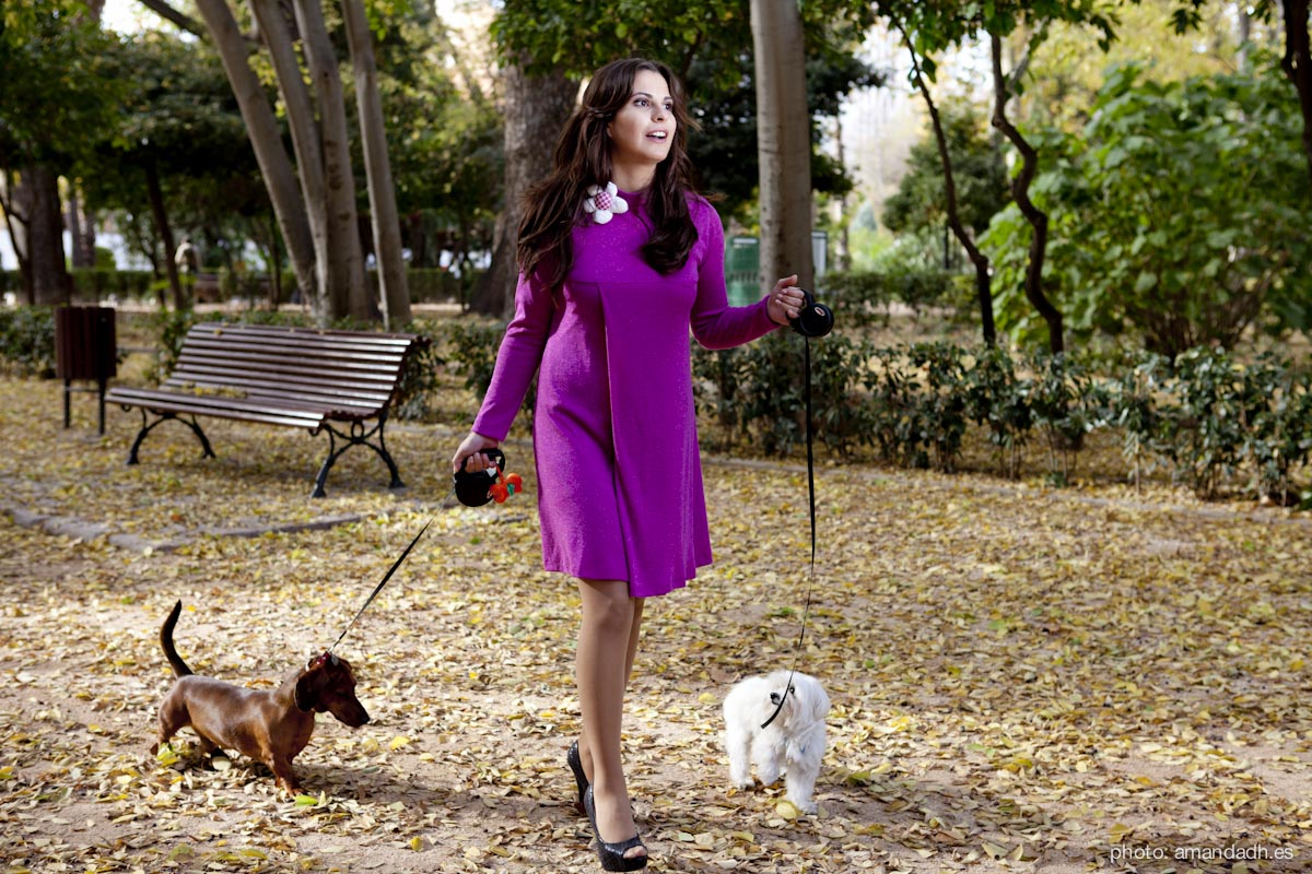 Dress and dogs - Senorita Martita FALL-WINTER street style by Amanda Dreamhunter - made in Spain