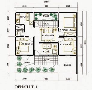 denah rumah minimalis 2 lantai luas tanah 60 meter persegi
