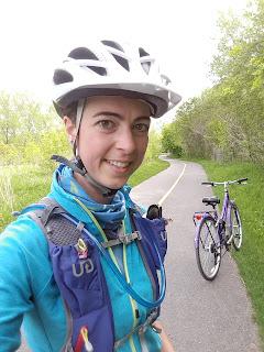 Cycliste, parc de la visitation, bicyclette