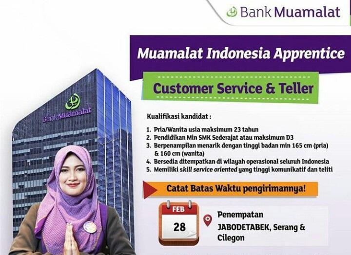 bank muamalat buka lowongan customer service amp teller