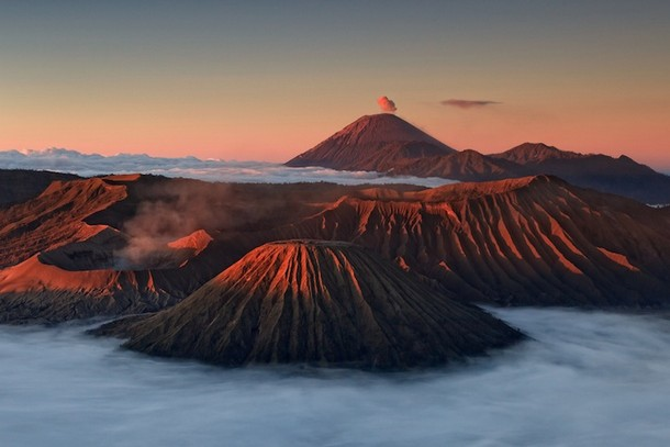 Billowing Smoke over Mount Bromo