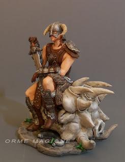 statuetta soldatino guerriero armatura spada action figure personalizzate milano orme magiche