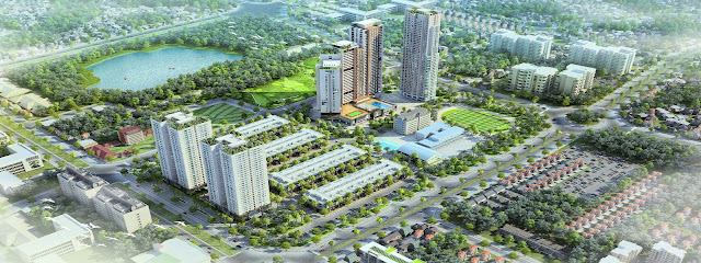 Phối cảnh tổng thể dự án Mon City Mỹ Đình