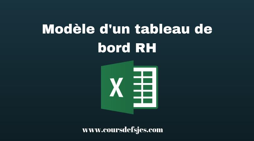 Modele D Un Tableau De Bord Rh Excel Cours Fsjes