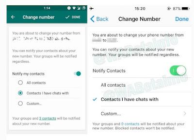 WhatsApp cambiar numero