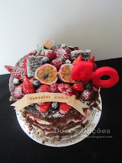 naked cake chocolat red fruits