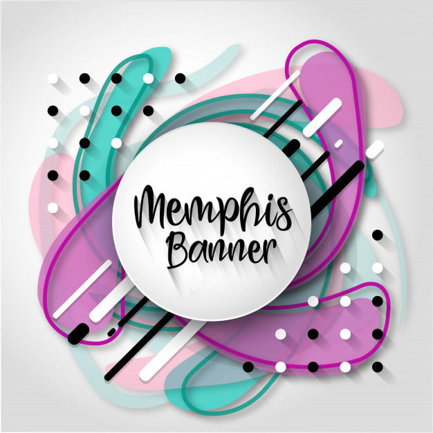 Creative Memphis Abstract Background Free Vector